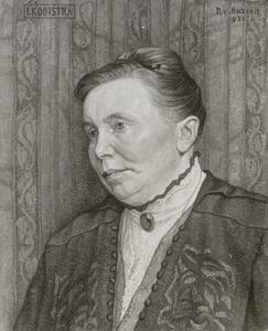 Portret van Ietje Kooistra (....-1923)