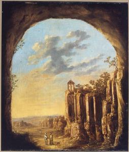 Landschap met antieke ruïnes
