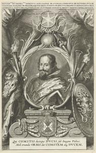 Portret van don Gasparo de Guzmàn y Pimentel, graaf-hertog van Olivares, hertog van San Lucar de Barrameda (1587-1645): illustratie voor Liutprand, Opera, Antwerpen 1640