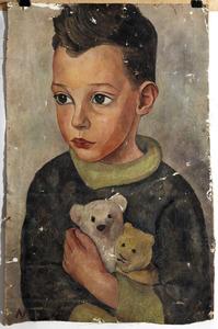 Portret van haar zoontje Bas de Gruyter (1928-1999)