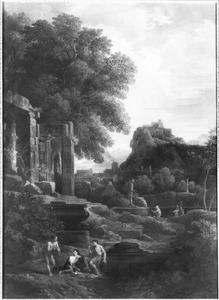 Zuidelijk landschap met antieke ruïnes
