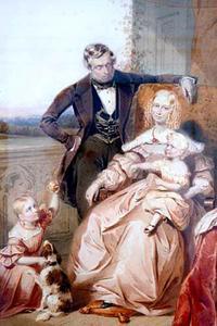Portret van de familie Gerrit Hendrik Bierman (1811-1860)