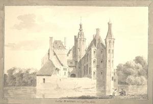 Slot Keppel te Keppel anno 1730 aan de achterzijde