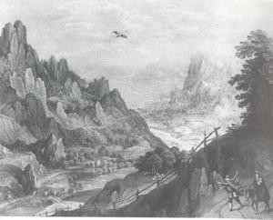 Landschap met de vlucht naar Egypte