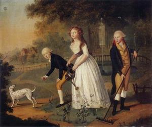 Groepsportret van de kinderen van Wilem V van Oranje-Nassau (1748-1806)