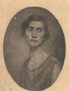 Portret van Adelheid Henriette Marie Thorbecke (1879-1961)