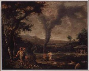 Landschap met het offer van Abel en Kain