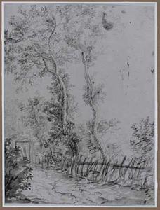 Bomen met een hek