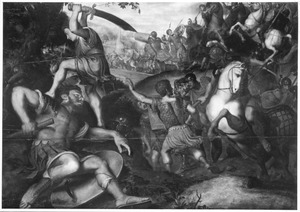 David slaat Goliath het hoofd af (1 Samuel 17:51)
