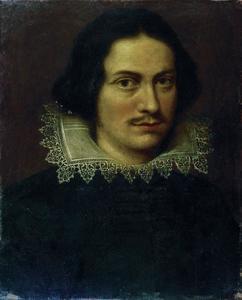 Portret van een onbekende man met kanten kraag