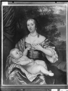 Dubbelportret van Cornelia van der Meer (1631-1711) en haar zoontje Anthony Vivien (1661-1707)
