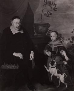 Dubbelportret van onbekende man en meisje