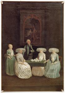 Portret van de familie van Symon van Sloterdijck (1738-1817) en Magdalena Canter Visscher (1735-1809)