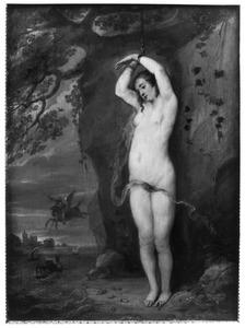 Andromeda door Perseus van het zeemonster gered