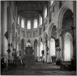 Interieur van de St. Laurenskerk te Rotterdam