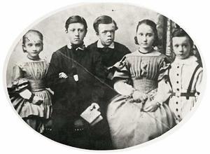 Portret van de kinderen van Frans Nicolaas Marius Eijck tot Zuylichem (?-?) en Anna Bregitte Story van Blokland (?-?)
