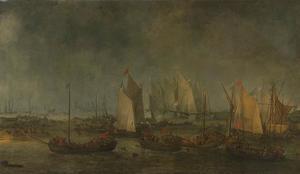 Zeeslag op het Slaak tussen Hollandse en Spaanse schepen in de nacht van 12 op 13 september 1631