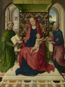Tronende Madonna met de HH. Petrus en Paulus