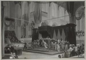 De inhuldiging van koning Willem II op 28 november 1840 in de Nieuwe Kerk te Amsterdam
