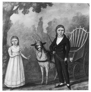 Portret van Marinus Bonifacius Willem de Jonge van Zwijnsbergen (1790-1864) en Eva Maria Adriana de Jonge (1794-1831)