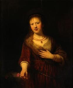 Saskia van Uylenburgh als Flora