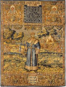 Christoffer II (1276-1332) met op de achtergrond een tournooi