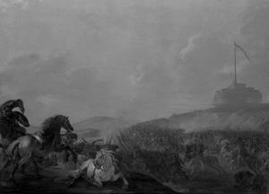 Slag voor de poorten van Rome met zicht op de Engelenburcht