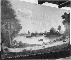 Landschap met gezicht langs een rivier