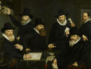 Regenten en bode van het Oude Mannen- en Vrouwengasthuis, Amsterdam, 1618