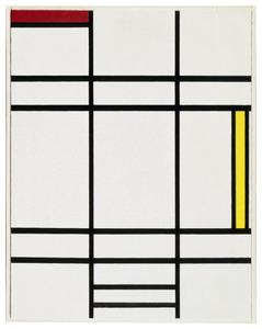 Composition - blanc, rouge et jaune: A