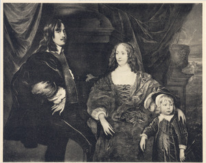 Portret van Cornelis Janson van Ceulen (1593-1661), Elizabeth Beck (?-1670) en Cornelis Janson van Ceulen (1634-1715)