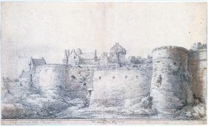 De Westpoort van Rhenen gezien vanuit het zuiden