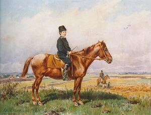 Jongen op een pony