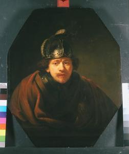 Zelfportret met helm