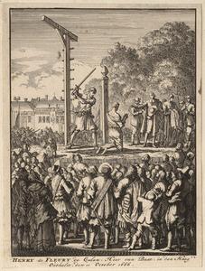 De onthoofding van Ritmeester Buat te Den Haag op 11 oktober 1666