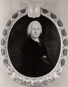 Portret van Abraham Adriaan du Bois ( -1774)