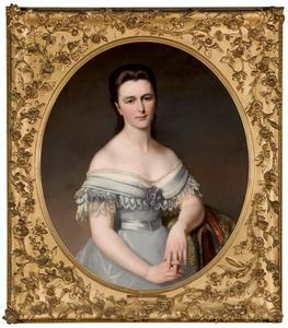 Portret van Louise Catherine Antoinette Borski (1832-1893)
