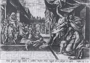 Koning Ahasveros kroont Ester tot zijn vrouw en koningin (Ester 2:17)