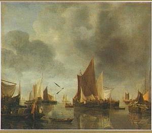Haven met schepen voor anker
