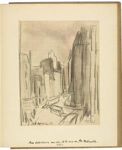 Rue La Fontaine au coin de la rue Fbg. Montmartre/ 1931 [authentiek]
