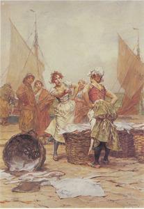 Twee visvrouwen maken ruzie