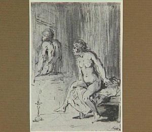 De dochter van de herbergier en haar geliefde door neerstromend water uit bed verdreven (Lazarillo de Tormes dl. 2, cap. 6, p. 73)