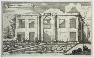 Buitenplaats aan de Vecht na verwoesting door Franse troepen in 1673
