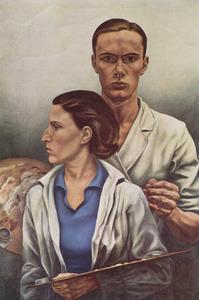 Zelfportret met echtgenote Rachel Pellekaan