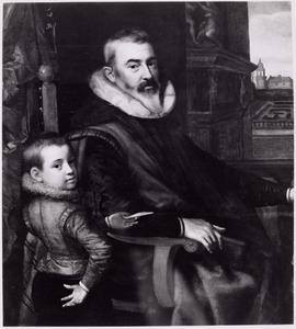 Portret van een onbekende man met kind