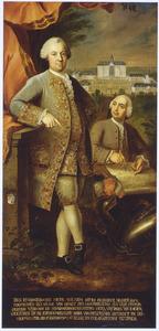 Portret van Willem Otto Frederik des H.R. Rijksgraaf Quadt van Wickeradt (1717-1785) en een onbekende man, waarschijnlijk de architect van slot Wickrath (Wickradt / Wijckeradt)