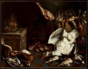 Jachtbuit van gans, gevogelte en haas