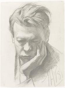 Portret van de schilder Piet Meiners