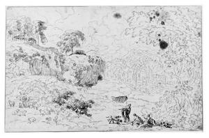 Berglandschap met figuren