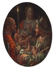 Christus zegent het brood te Emmaüs: de instelling van de Eucharistie